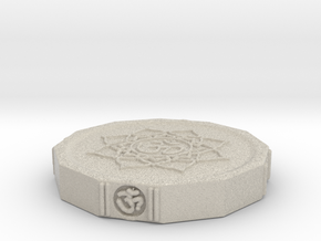 Aum Coin in Natural Sandstone