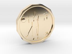 Dudeist Coin in 14K Gold
