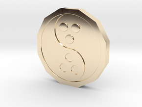 Dudeist Coin (Heads on both sides) in 14K Yellow Gold