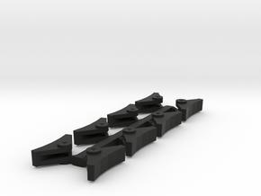 Brake Shoes Set in Black Natural Versatile Plastic