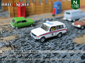 Range Rover Police (N 1:160) in Smooth Fine Detail Plastic
