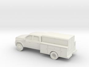 1/64 2009-15 Dodge Ram Crew Utility in White Natural Versatile Plastic