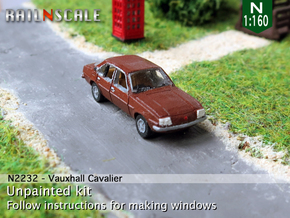 Vauxhall Cavalier Mk1 (N 1:160) in Smooth Fine Detail Plastic