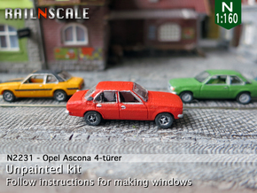 Opel Ascona 4-türer (N 1:160) in Frosted Ultra Detail