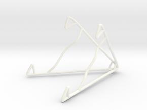 iPad Stand in White Processed Versatile Plastic