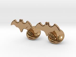 Batman Dead End Cufflinks in Polished Brass