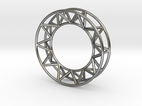 Mens Framework Ring in Polished Silver