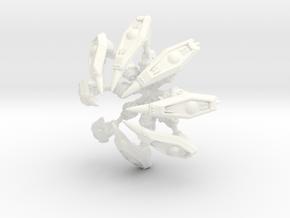 Spidermech Legs-Sprued Octuple in White Processed Versatile Plastic