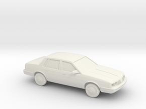 1/87 1987 Oldsmobile Cutlass Ciera in White Natural Versatile Plastic