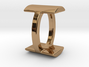 Two way letter pendant - IO OI in Polished Brass