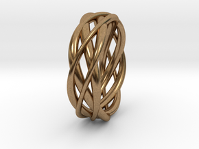 Mobius ring braid  in Raw Brass: 8 / 56.75