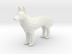 Zeus the Wolf in White Natural Versatile Plastic