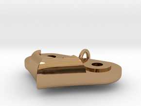 Gear Heart Pendant - Base in Polished Brass