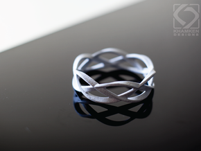 Weave Ring (Small) in Polished Metallic Plastic