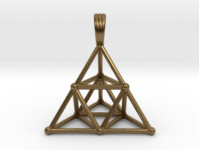 TETRAHEDRON (stage 2) PENDANT in Natural Bronze