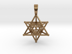 MERKABAH (pendant) in Natural Brass