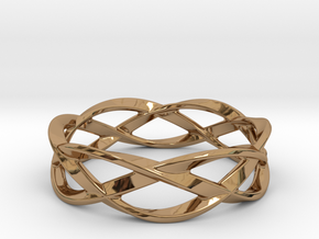 Weave Ring (Small) in Polished Brass