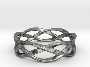 Weave Ring (Small) in Polished Silver