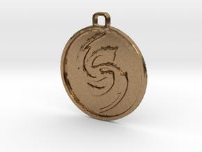 Flicker Symbol in Natural Brass