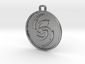 Flicker Symbol in Natural Silver