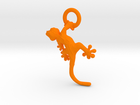Gecko Pendant in Orange Processed Versatile Plastic