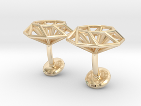 Cufflinks Octagonal in 14k Gold Plated Brass