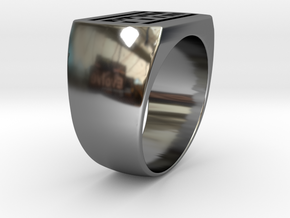 Ptym Ring in Fine Detail Polished Silver