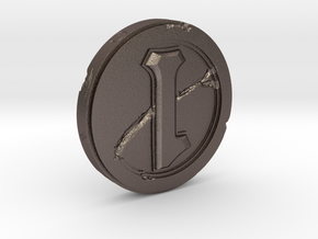 Hearthstone Coin Replica in Polished Bronzed Silver Steel