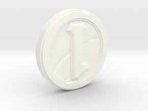 Hearthstone Coin Replica in White Processed Versatile Plastic