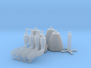 H-1 Engines Later Version (1:70 Inboards ONLY) in Smooth Fine Detail Plastic