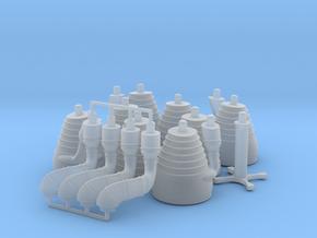 H-1 Engines (1:70 Saturn IB) SA-203 thru SA-210 in Smooth Fine Detail Plastic