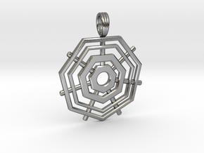 HEPTAGRID in Polished Silver