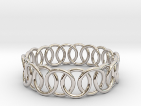 Ring Bracelet 65 in Rhodium Plated Brass