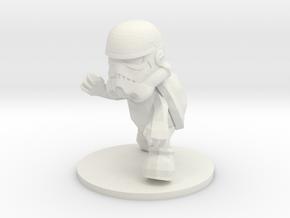 StormTroopa (Stormtrooper + Koopa Troopa Statue) in White Natural Versatile Plastic