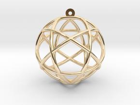 Penta Sphere in 14k Gold Plated Brass