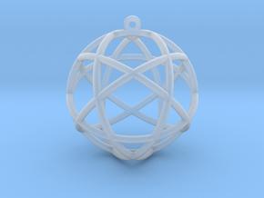 "Penta Sphere Pendant 1.5"" in Smooth Fine Detail Plastic"