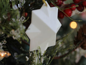 PyraStar™ (Pyramid & Star) Ornament in White Strong & Flexible