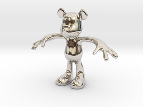 MOUSE KITOY in Rhodium Plated Brass