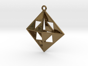 OCTAHEDRON Earring / Pendant Nº1 in Polished Bronze
