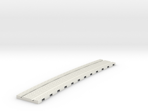 P-165stw-curved-914r-tram-track-12d-100-w-1a in White Natural Versatile Plastic