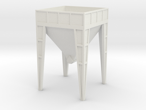 N Scale Aggregate Hopper #2 in White Natural Versatile Plastic