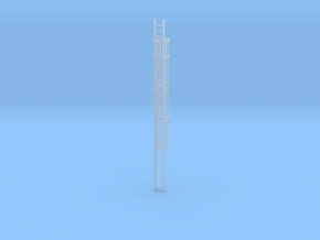 'S Scale' - 30 Ft. Caged Ladder in Smooth Fine Detail Plastic