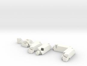 3way Joint Set (Kawai Tsugite) in White Processed Versatile Plastic