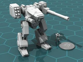 Terran Combat Walker, 15mm scale. in White Strong & Flexible