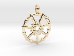 HURRICANE NEPTUNE in 14k Gold Plated Brass