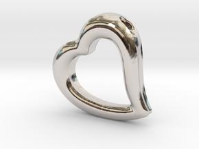 Heart Pendant Mark II (symmetrical) in Platinum