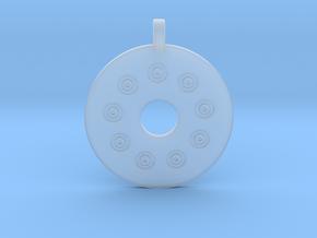 Flintblack Medallion in Smoothest Fine Detail Plastic