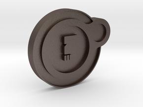 Dead Orbit Personal Emblem in Polished Bronzed Silver Steel