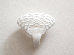 Globe Ring (US size 5.5) in White Strong & Flexible Polished