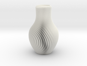 Vase in White Processed Versatile Plastic